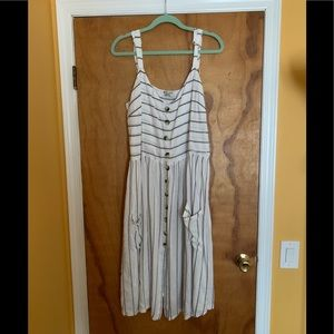 New ASOS Brave Soul striped midi dress XL